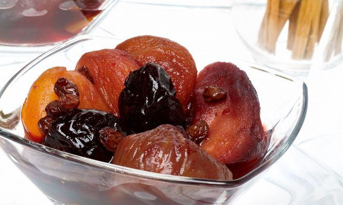 Apricots and dried fruits.