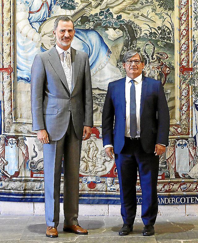 Felipe VI se reúne con el presidente del Parlamento balear