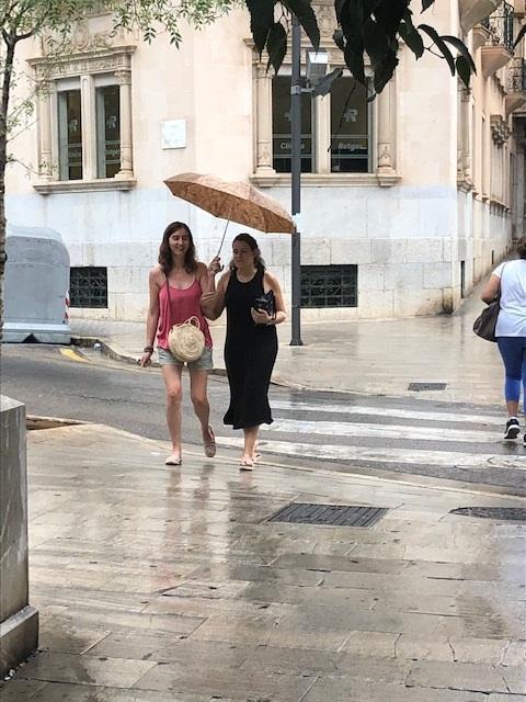 Rain showers in Palma