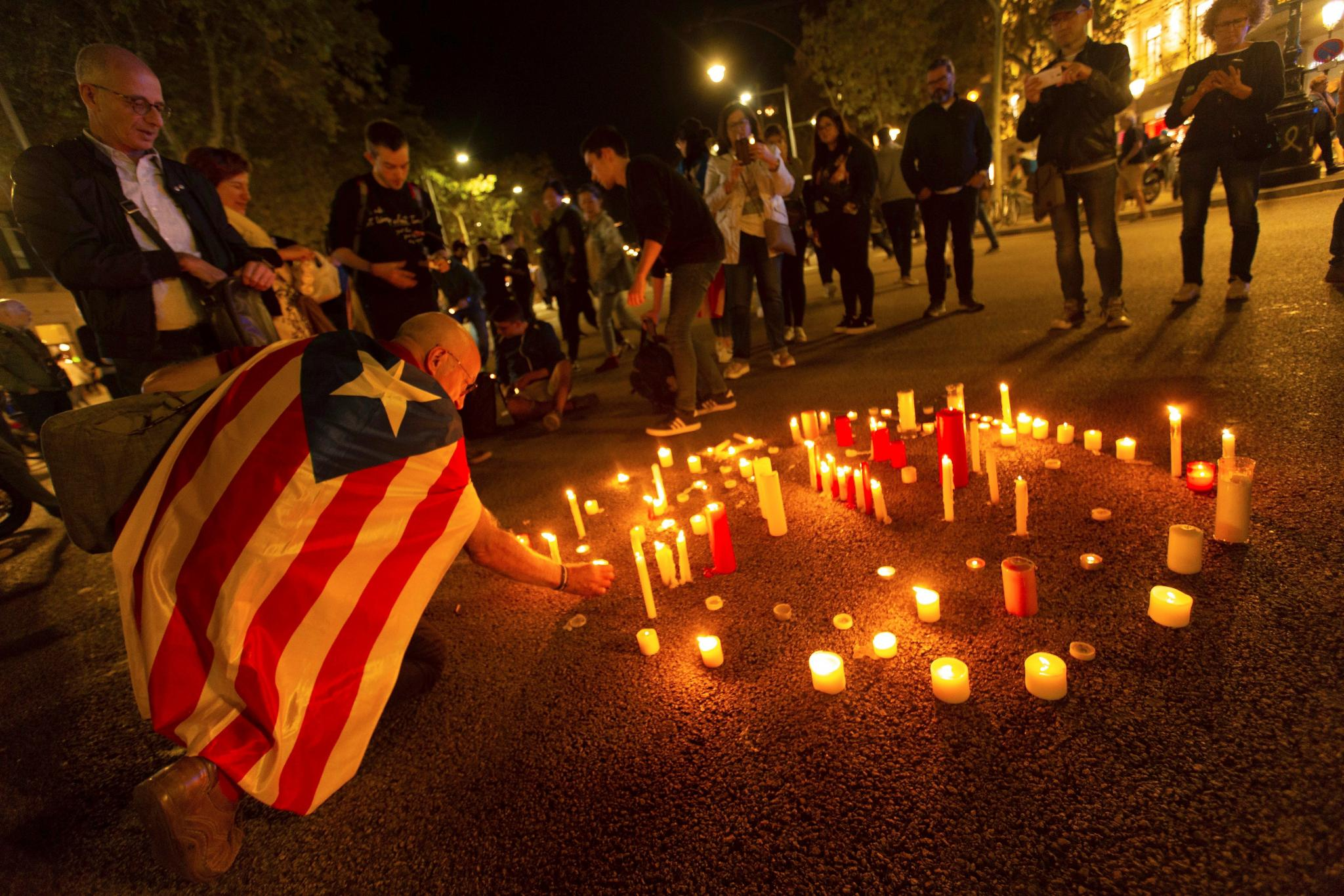 Candlelight vigil in Barcelona