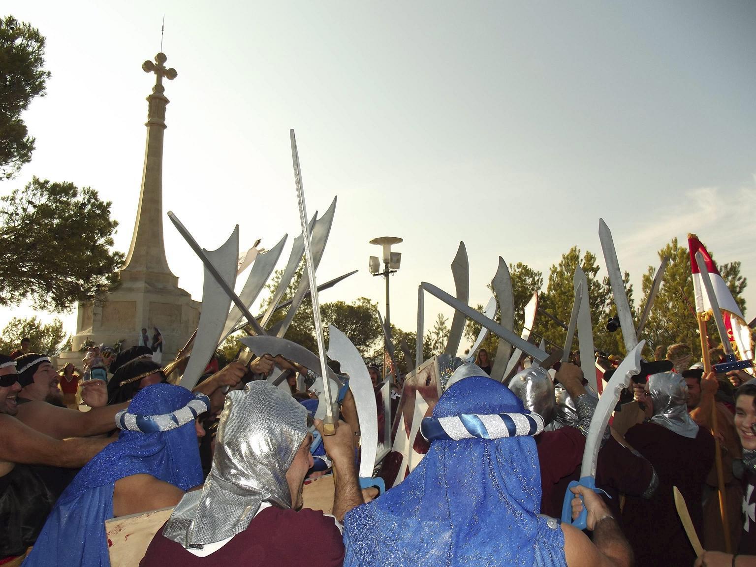 SANTA PONÇA - CELEBRACION DE LA VICTORIA DEL REI EN JAUME I CONTRA LOS SARRACENOS.