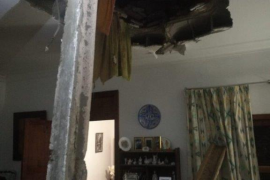 Family evacuated after roof collapses