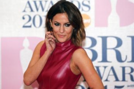 Caroline Flack at the BRIT music awards in London