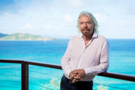 Sir Richard Branson at his home on Necker Island