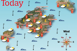 Weather forecast for the Balearic Islands for Saturday April 17