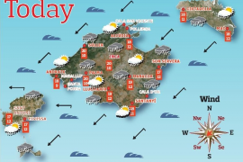 Weather forecast for the Balearic Islands for Thursday, April 22